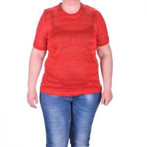 Плетена дамска блуза голям размер
