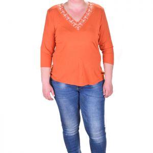 Дамска блуза с бродерия макси размер