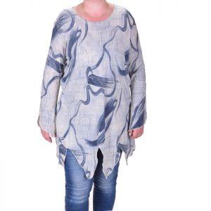 Голям размер дамска блуза-асиметрична