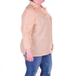 Дамска риза с бродерия макси размер