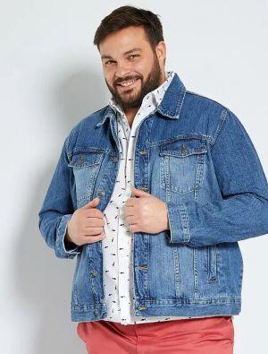 Голям размер дънково яке