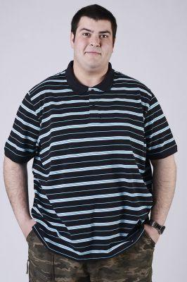 Мъжка блуза с къс ръкав-макси размер