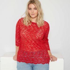 Дамска дантелена тениска макси размер