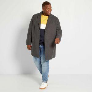 Мъжко вълнено палто голям размер