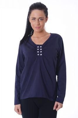 Дамска блуза с обло деколте