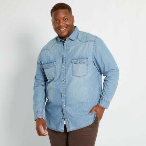 Мъжка дънкова риза голям размер