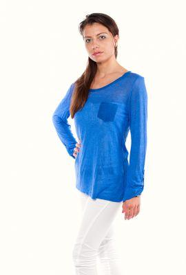 Синя дамска блуза