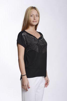 Дамска блуза с капси