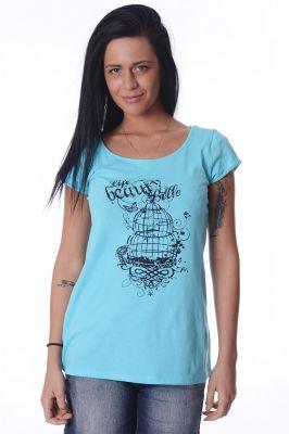 Синя дамска тениска