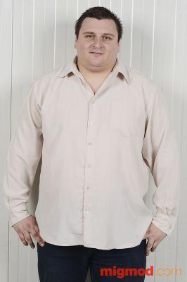 Мъжка риза с дълъг ръкав голям размер