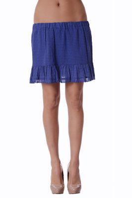 Къса синя пола