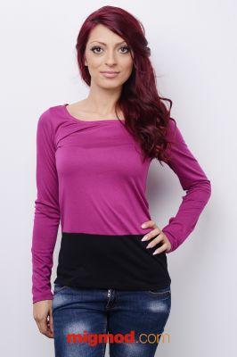 Дамска блуза от два цвята