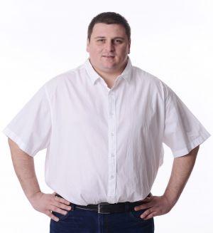 Мъжка риза с къс ръкав-макси размер