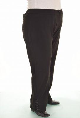 Черен дамски панталон голям номер