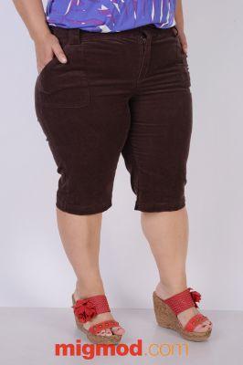 Кадифени дамски панталон 7/8 голям размер