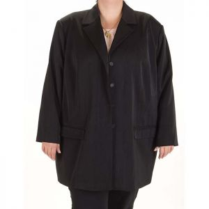 Черно дамско сако макси номер