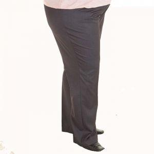 Дамски панталон с ластик в колана голям размер
