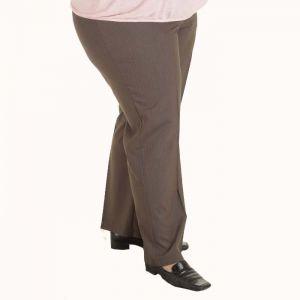 Дамски панталон голям размер с ластик в колана