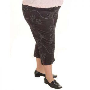 Голям размер дамски панталони от кадифе