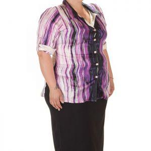 Дамска риза с къс ръкав макси номер