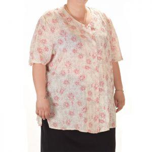 Макси номер дамска риза с къс ръкав
