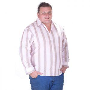 Макси размер мъжка риза с дълъг ръкав