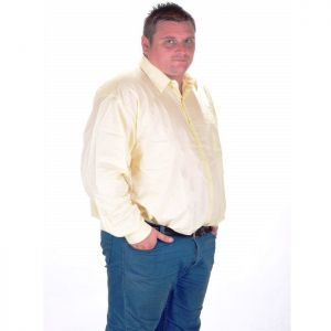 Мъжка риза бледо жълта макси номер
