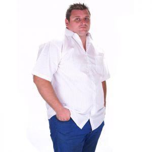 Бяла мъжка риза на рае голям размер