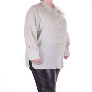 Голям номер дамска риза  с дълъг ръкав