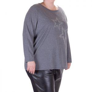 Макси номер ежедневна дамска блуза с апликация