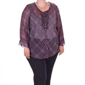 Ефирна дамска риза голям размер