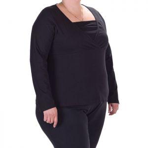 Черна дамска блуза макси размер