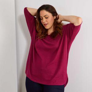 Лилава дамска блуза голям номер