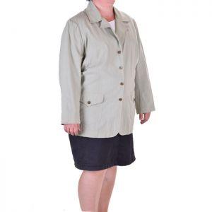 Ленено дамско сако макси размер