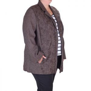 Макси размер елегантно дамско сако с бродерия