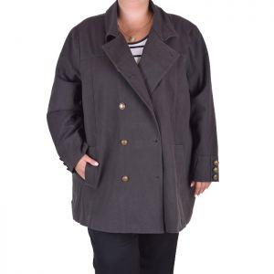 Голям размер дамско късо палто