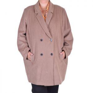 Вълнено дамско палто макси размер