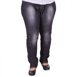 Черни дамски дънки макси размер