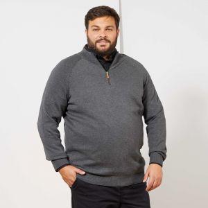 Голям размер мъжки пуловер