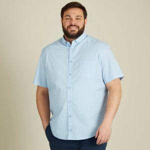 Голям размер мъжка риза с къс ръкав