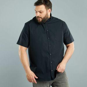 Риза с къс ръкав голям размер
