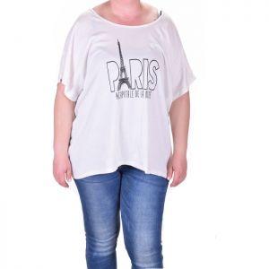 Асиметрична дамска тениска макси размер