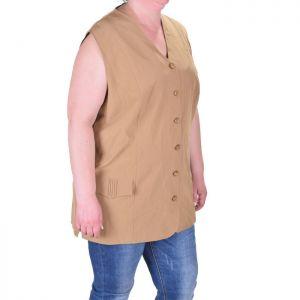 Дамско сако без ръкави голям размер