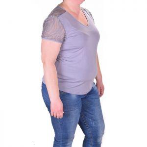Дамска тениска с дантелени ръкави