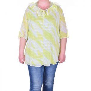 Ефирна дамска блуза голям размер
