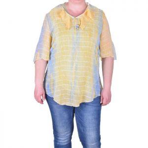 Макси размер ефирна дамска блуза