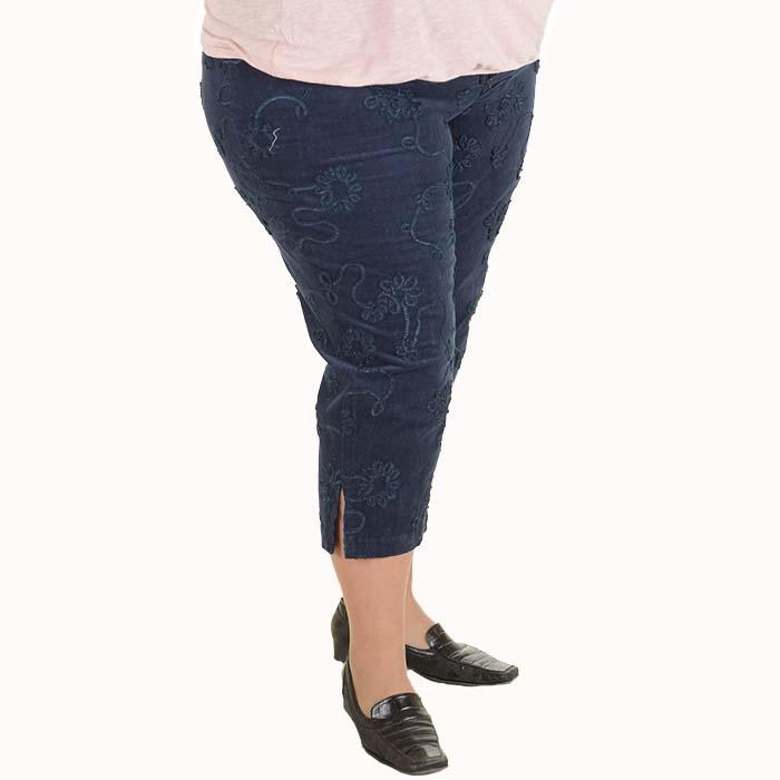 9248f620bc4 Голям размер дамски панталони 7/8 от кадифе