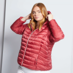 Голям размер дамско яке с качулка