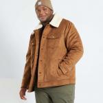 Мъжко велурено яке голям размер
