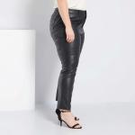 Дамски кожен панталон голям размер